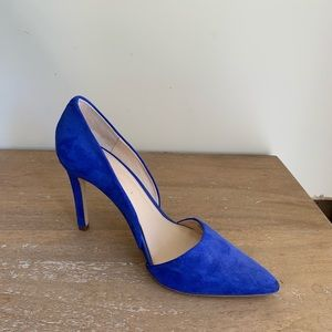 Banana Republic Electric Blue Suede Heel